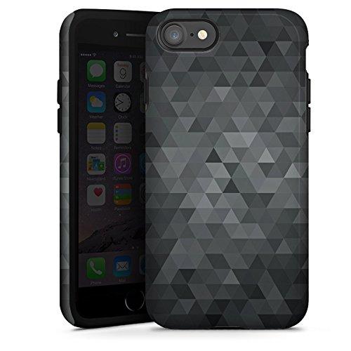 Apple iPhone 6s Tasche Hülle Flip Case Dreiecke Modern Dunkel Tough Case glänzend