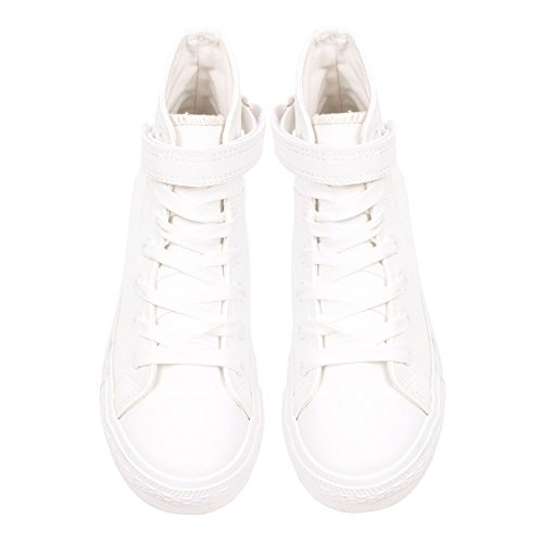 Ideal Shoes ,  Sneaker donna Bianco