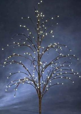 Konstsmide 3372-006 LED Lichterzweig H: 150 cm / 250 warm weiße Dioden / 24V Außentrafo / braunes Kabel / braun von Konstsmide auf Lampenhans.de