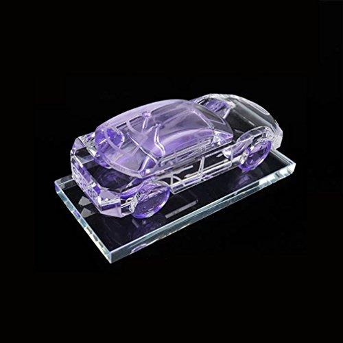 ABBY AFENG Kreative High-Grade Set Auger Die Sport Auto Modell Diamant Kristall Auto Oder Home Office Parfüm Innenausstattung Zubehör Dekoration,Purple