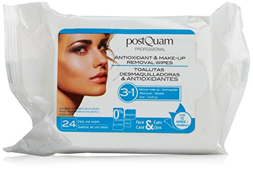 Make-up Removal Wipes (Postquam 3 In 1 Antioxidant And Make-Up Removal Wipes Anti-Age-Tücher 24 Stück)