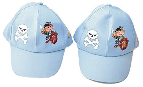 2 Stück Piraten Kappe für Kinder Pirat Kostüm by schenkfix (Seemann 2 Stück Kostüm)