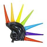 WIDMANN- Elmo con Spunzoni Multicolore Gonfiabile 90 Cm Parrucca Party 997 per Adulti, Taglia Unica, 8003558014590
