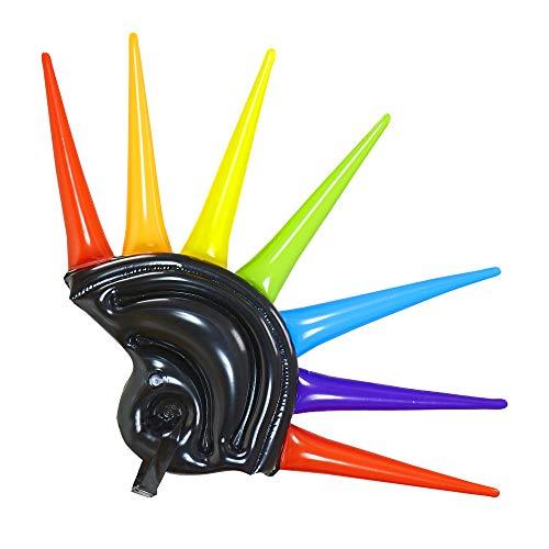 WIDMANN 01459Casco Hinchable Pinchos para Adultos, 90cm, Color Negro