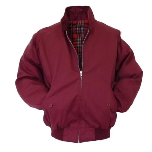 Viper London - Giacca Harrington - fodera in tartan rosso - bordeaux - L