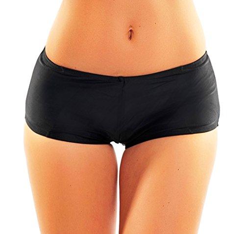 Hot Lady pantaloncini da donna, mutandina One Piece 1097hfla-f3849 Nero Black Black