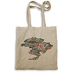 Colorido dragón chino bolso de mano u534r