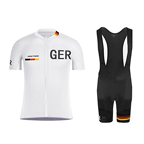 Uglyfrog #03 Bike Wear Sommer Herren Radsport Trikots & Shirts Country - Code Kurzarm Cycling Jersey + Bib Shorts Sport Bekleidung Kit -