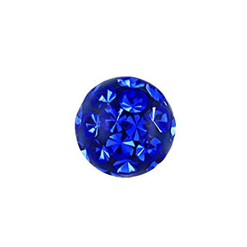 eeddoo 3 mm - DB - Dark Blue/Dunkel Blau - Epoxy - Klemmkugel - Kristall (Piercing Kugel für BCR Klemmringe)