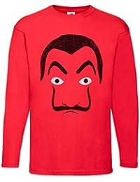 Urban Backwoods Dali Mask T-Shirt De Manga Larga Long Sleeve Shirt Tamaños S –