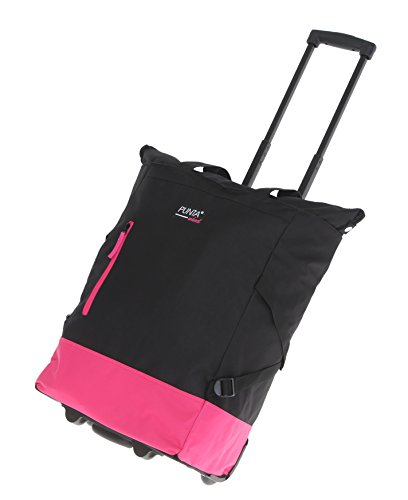 2er SET: PUNTA WHEEL Einkaufstrolley Einkaufsroller + Faltschopper / BLACK PINK (Schwarz Rosa) 0122