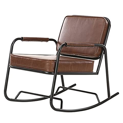 ANDEa Retro The Elderly Lounge Chair, Winter Loft Iron Rocking