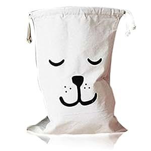 zedtom cesto porta biancheria tela sacchetto della lavanderia Box casa giocattolo Organizer–Orso