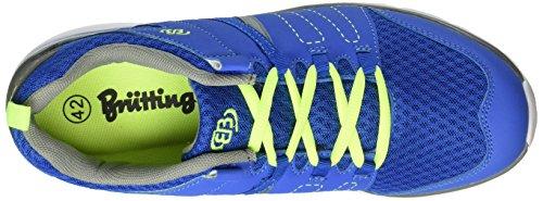 Brütting 591202, Baskets Basses Mixte Adulte Bleu (Royalblau/Grau/Lemon)