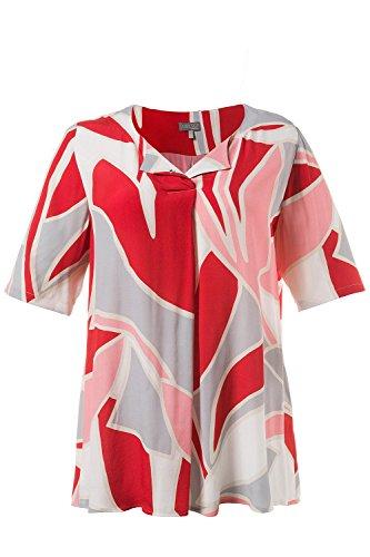 Ulla Popken Femme Grandes Tailles Tunique 710597 Rouge