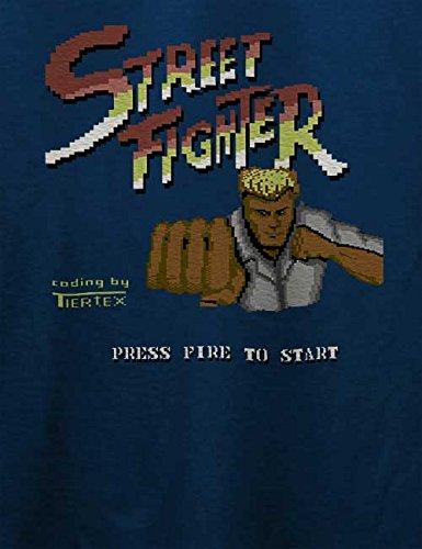 Streetfighter T-Shirt Navy Blau