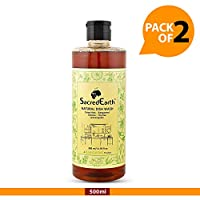SacredEarth Natural Dish Wash Liquid - With Soap Nuts,Lemon,Lemongrass, Thyme And Bergamot - 500ml (Pack of 2)