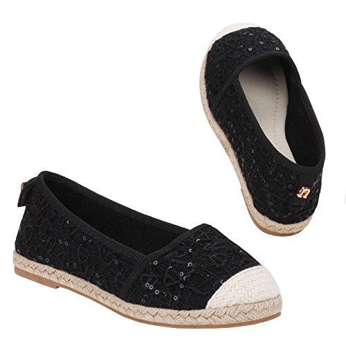 Mädchen Schuhe, Z-620, BALLERINAS Schwarz 1