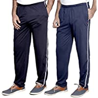 Indistar Men's Premium Cotton 1 Blue and 1 Blue Lower with 1 Zipper Pocket and 1 Open Pocket(pack of 2 Lowers)_30