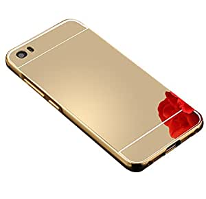 Carla Luxury Metal Bumper + Acrylic Mirror Back Cover Case For Redmi5 Gold + Digital LED Watches Unisex Silicone Rubber Touch Screen by carla Store.