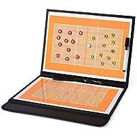 ALIXIN-CP080 volleyball coaching pieghevole strategia insegnamento Portablocco con lavagnetta magnetica e tattica kit,PU copertura con pezzi Marker e write-wipe penna.volleyball Coach Tactical Board