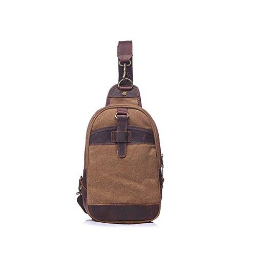 BULAGE Tasche Brusttasche Retro Mannbeutel Tragetasche Schulter- Messenger Outdoor Sport Kompakt Praktisch Tragbar Brown