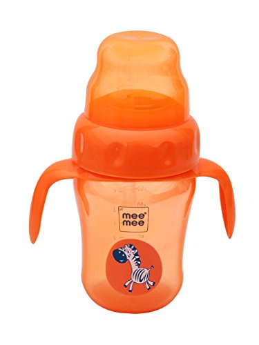 Mee Mee 2 in 1 Spout and Straw Sipper Cup (Orange) - 210 ml