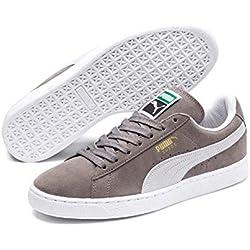 Puma Suede Classic+, Zapatillas Unisex Adulto, Gris (Grey/White 66), 42.5 EU