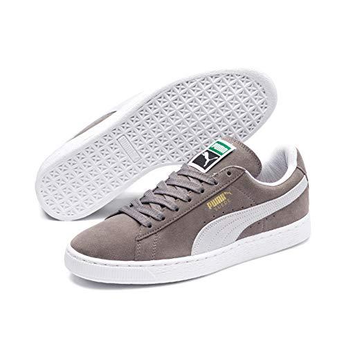 Puma suede classic+, sneaker unisex – adulto, grigio (steeple gray/white), 43 eu