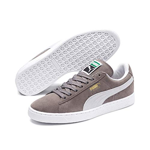Puma Herren Suede Classic+ Sneakers, Grau (Steeple Gray-White), 43 EU