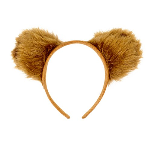 The Winnie Kostüm Niedliche Pooh - Oblique Unique® Haarreifen Teddy Bär Ohren Braun Bären Kostüm Fasching Karneval Party
