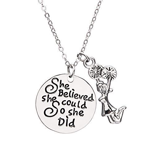 ichkeitssymbol, Cheer She Believed She Could So She did Jewelry für Mädchen Cheerleaders ()
