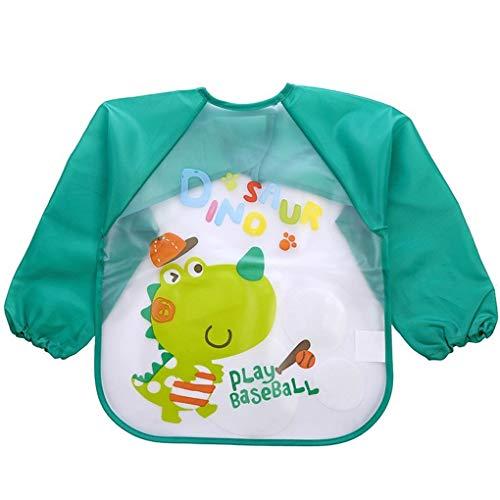 Provide The Best Lovely Baby Bibs Infant Long Sleeve Waterproof Baby Feeding Smock Children Plastic Coverall Bib Toddler Scarf Baby Infant Toddler Bib