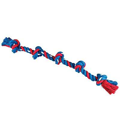 Gor Pets Dog Chew Toy 5-Knots Cotton Rope Tug Super Tugger