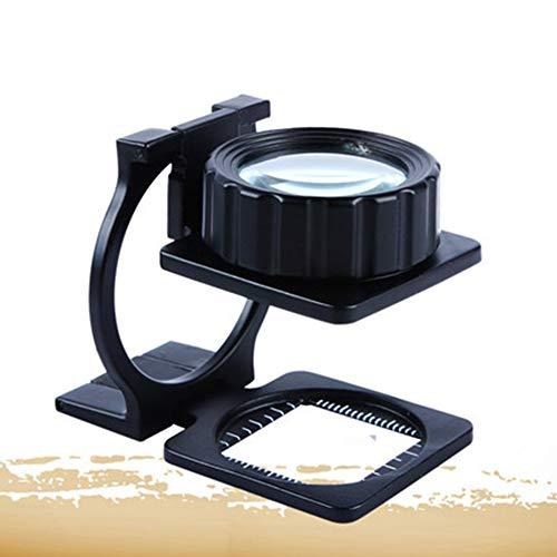 Xianw Optische 20-Fach optische Lupe aus Vollmetall - Lesespiegel