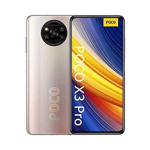 """Oferta de POCO X3 Pro - Smartphone 6+128 GB, 6,67"""" 120Hz FHD+DotDisplay, Snapdragon 860, Cámara Cuádruple de 48 MP, 5160mAh, Bronce Metálico"""