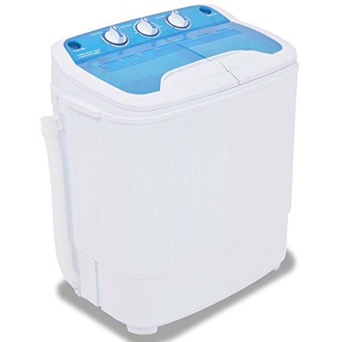 vidaXL Mini Machine à Laver à Deux Cuves 5,6 kg Lave-linge pour Camping