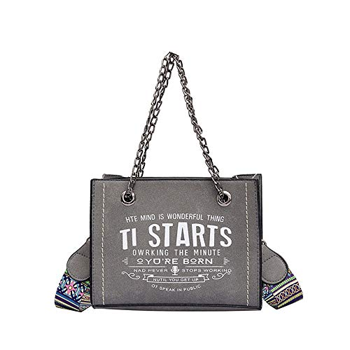 Diagonale Tasche der großen Kapazität, einfache vielseitige Tasche Grau 21 * 16 * 8cm