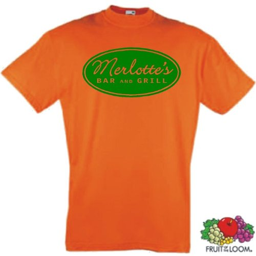 world-of-shirt Herren T-Shirt Merlotte`s Bar and Grill - true blood Orange