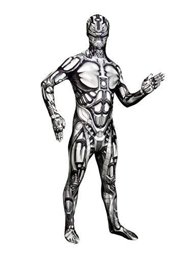 oid Morphsuit Halloween Roboter schwarz-Weiss L (bis zu 1,80 m) ()
