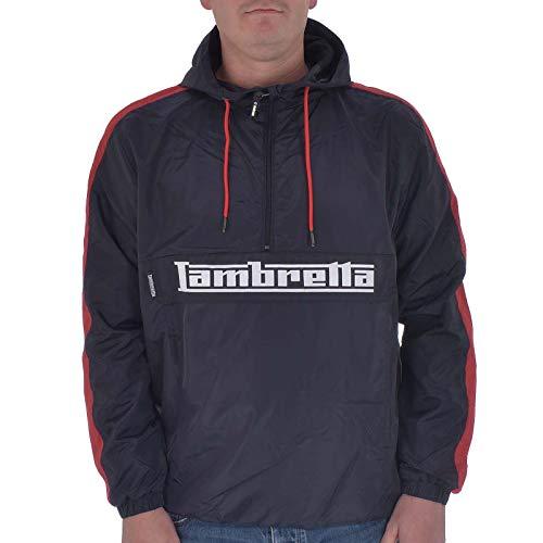 Lambretta Lightweight OTH Jacket Chaqueta Deportiva, Azul (Navy/Red Navy/Red), M para Hombre
