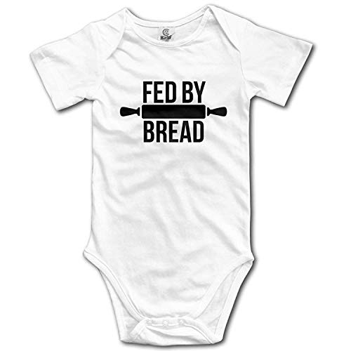 Clothes Set Fed by Bread Bodysuits Romper Short Sleeved Light Onesies,0-3M ()