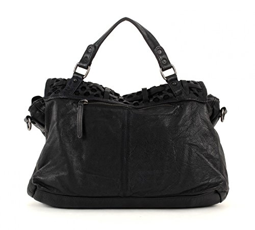 Fred fratello borsa in pelle da donna 6 Days Off Black (Schwarz)