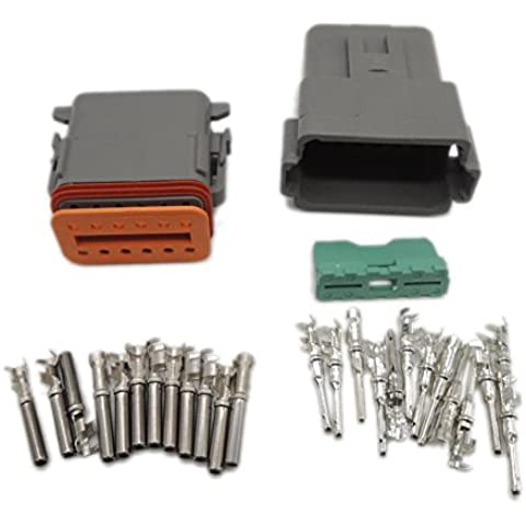 1) Kit Deutsch DT 12 Pin, impermeabile, cavo elettrico Connettore spina Kit 22-16AWG DT 06-12S 04-12P DT