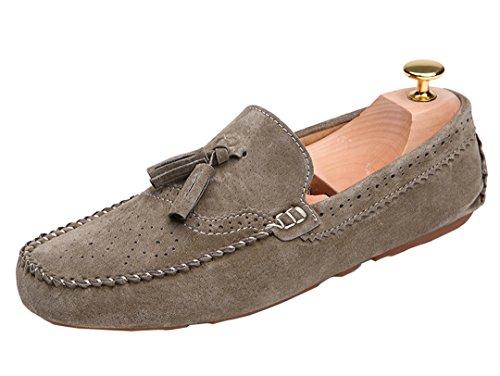 TDA ,  Herren Durchgängies Plateau Sandalen mit Keilabsatz Khaki