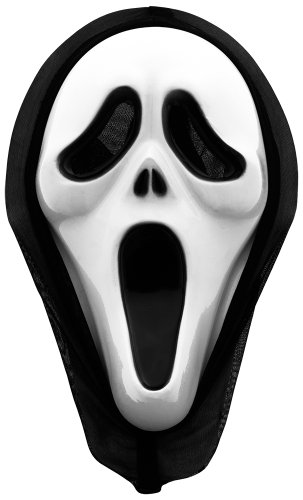 Smartfox Scream Maske - Fasching Halloween Party Geburtstag Kostüm Karneval Theater Horrormaske