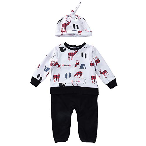 Togelei Baby Weihnachten Elk Siamese Clothing Kletteranzug Newborn Baby Jungen Mädchen Weihnachten Deer Print Strampler Set Cotton Print Fashion Set Bow cute Prinzessin Kleid Casual Kinder Kleidung