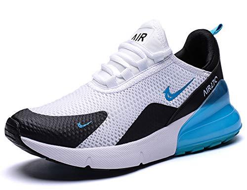 GNEDIAE Uomo Air 27C a Collo Basso Scarpe da Ginnastica Running Sportive Interior all'Aperto Tennis Fitness Basse Sneakers Bianco 46 EU