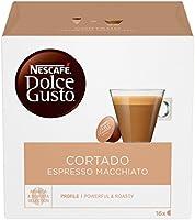 Nescafé Dolce Gusto Cortado Espresso Macchiato Caffè, 6 Confezioni da 16 Capsule (96 Capsule)