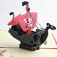 BC Worldwide Ltd handmade 3D pop up card Japanese comic manga cartoon One Piece pirate boat Going Merry birthday card, wedding anniversary, Valentines day, mother